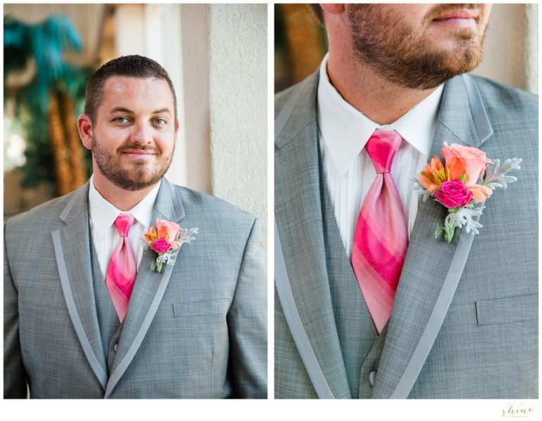 Groom in Pink And Grey