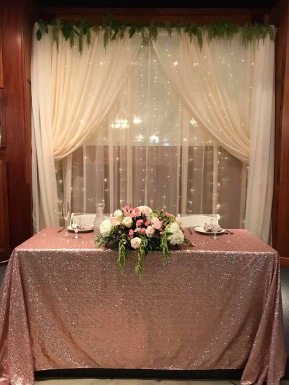 Sheer, Light Backdrops & Flowers by Boise Events