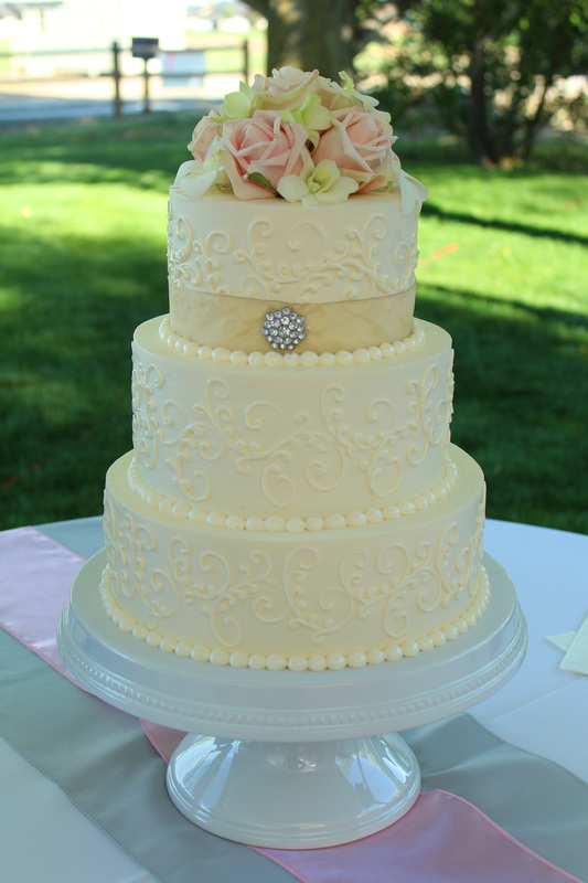 Custom Cake with Flower Topper