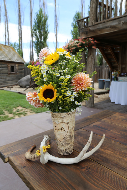 Sunflower Table Setting with Antler
