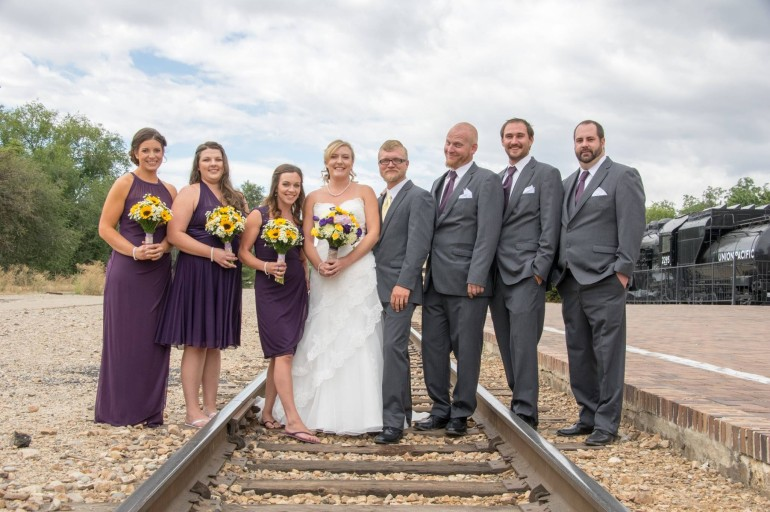 Wedding Party on railway tracks Boise Events