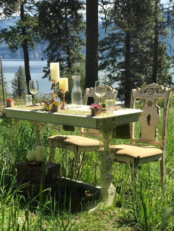 Library Table, Rustic Dining Chairs, & Decor