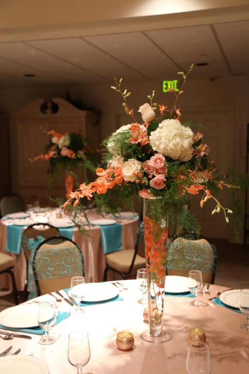 Trumpet Vases & Flowers by Boise Events